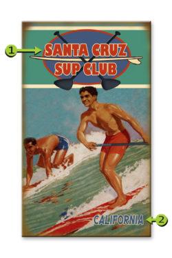 Beach Club SUP Wood Sign 14 x 24