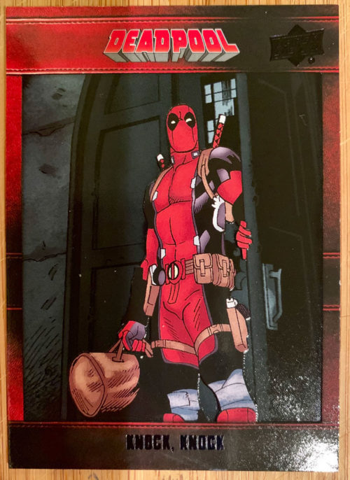 deadpool knock knock comic book cover