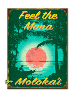 feel the mana wood sign 17x23