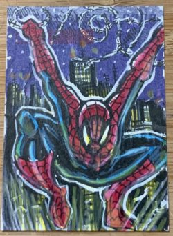 Hand sketched Spider-Man card