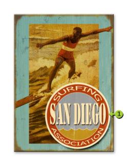 Surfing Association 17x23 wood sign