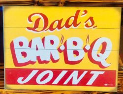 bbq joint wood sign