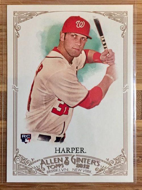 Bryce Harper baseball trading card
