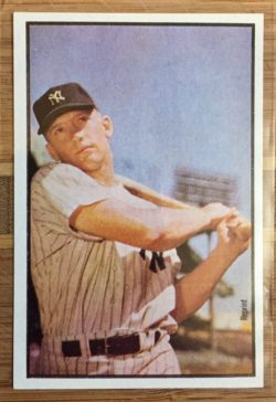 1989 Bowman Replicas Mickey Mantle trading card