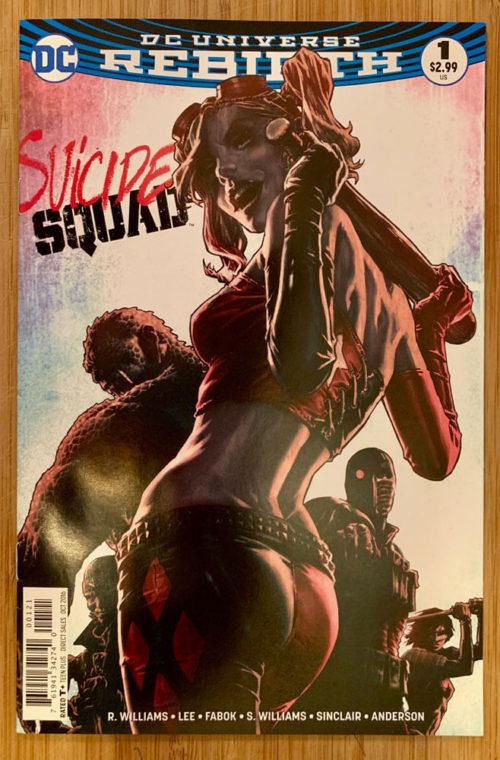 suicide squad 2016 series 1b comic book cover